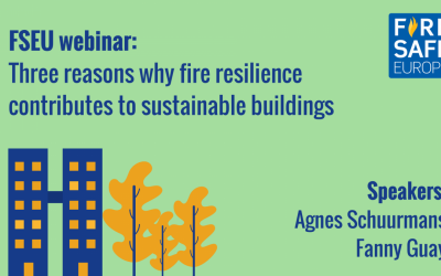 FSEU webinar – Three reasons why fire resilience contributes to sustainable buildings
