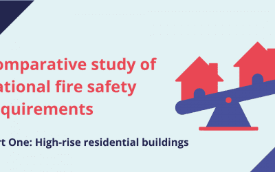 Comparative study of national fire safety requirements on high-rise residential buildings